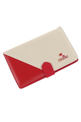 Portefeuille rouge COSY BAY pour femme