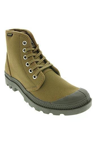 Bottines/Boots marron PALLADIUM pour garçon