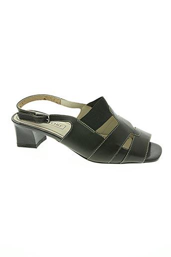 Sandales/Nu pieds noir DORNDORF pour femme