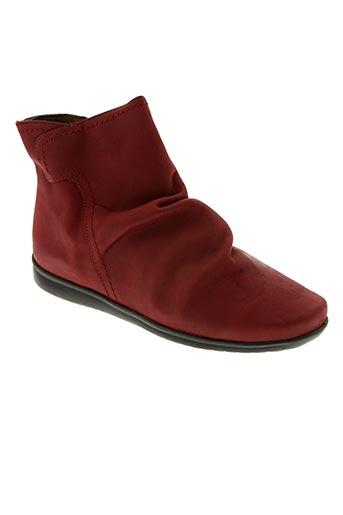 Bottines/Boots rouge J.METAYER pour femme
