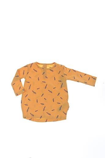 T-shirt manches longues jaune TUMBLE'N DRY pour fille