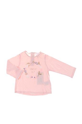 T-shirt manches longues rose CARREMENT BEAU pour fille