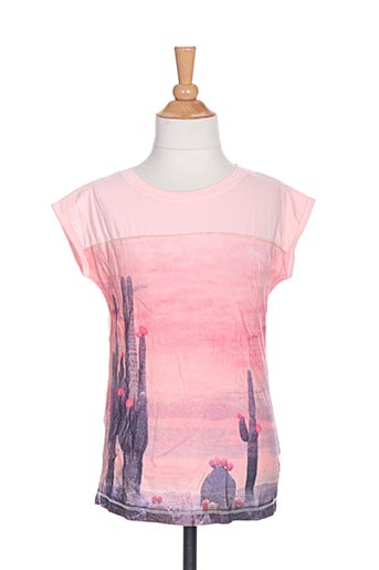 T-shirt manches courtes rose TUMBLE'DRY pour fille