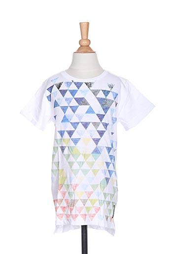 T-shirt manches courtes blanc TUMBLE'DRY pour garçon