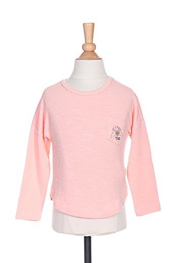 T-shirt manches longues rose TUMBLE'DRY pour fille