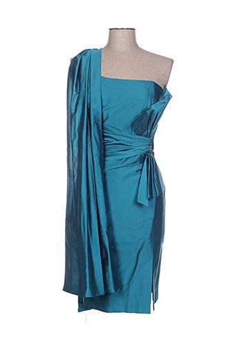 Robe mi-longue bleu CLAIRMODEL pour femme