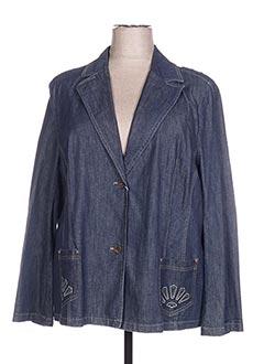 Veste chic / Blazer bleu ATIAN pour femme