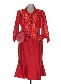 Veste/jupe rouge CLAIRMODEL pour femme