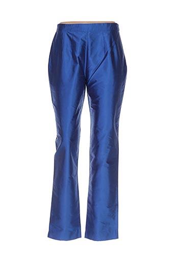 Pantalon casual bleu CLAIRMODEL pour femme