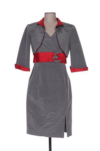 Veste/robe gris CLAIRMODEL pour femme