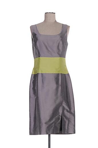 Robe mi-longue gris CLAIRMODEL pour femme