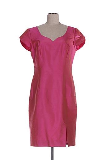 Robe mi-longue rose CLAIRMODEL pour femme