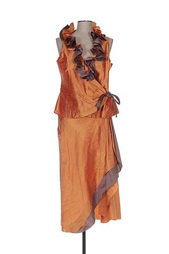 Top/jupe orange CLAIRMODEL pour femme