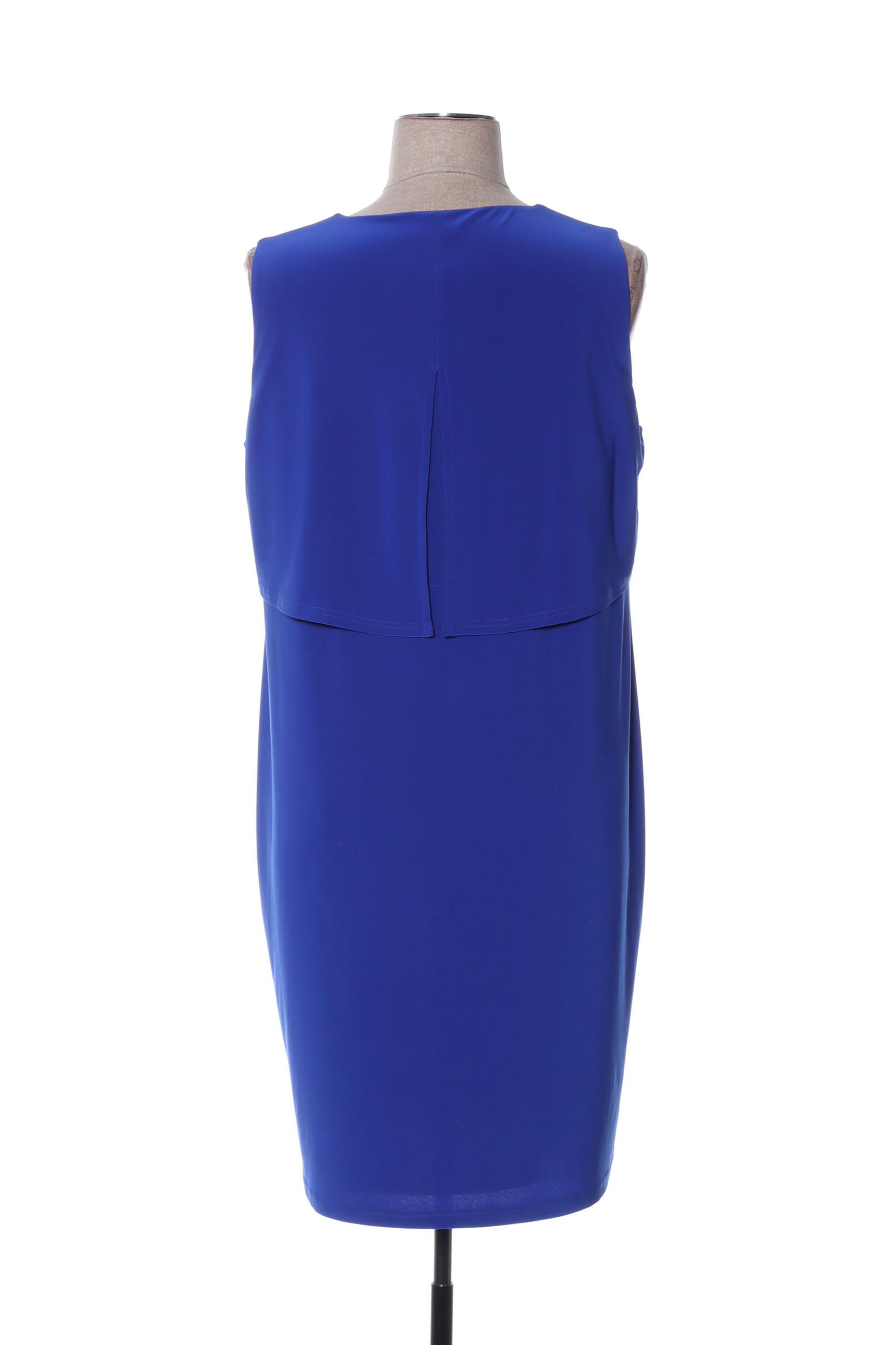 Arona San Francisco Robes Mi Longues Femme De Couleur Bleu En Soldes Pas Cher 1425642-bleu00