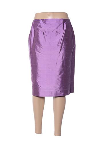 Jupe mi-longue violet CLAIRMODEL pour femme