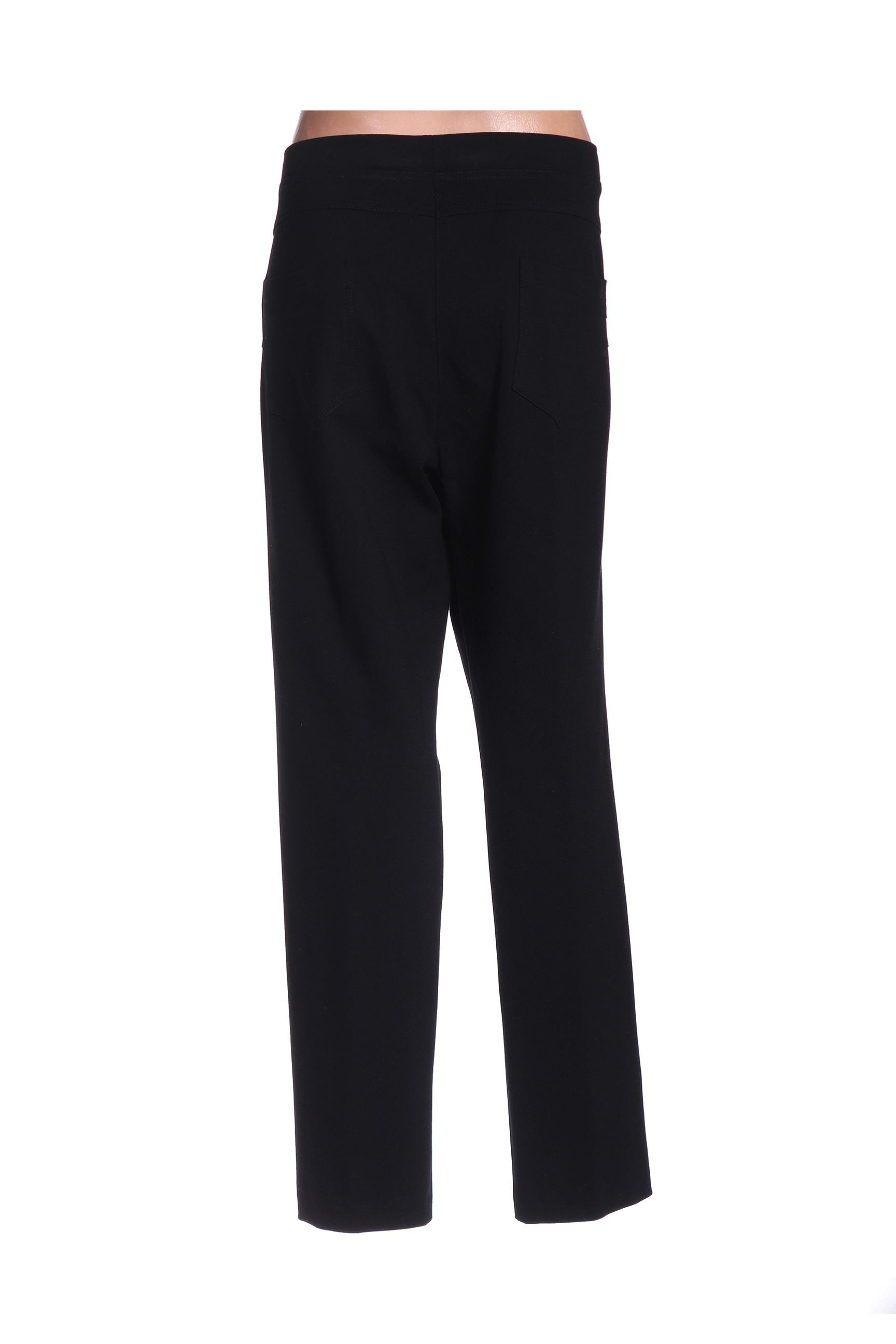 Griffon Pantalons Decontractes Femme De Couleur Noir En Soldes Pas Cher 1427286-noir00