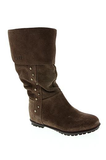 Bottines/Boots marron LEPI pour fille