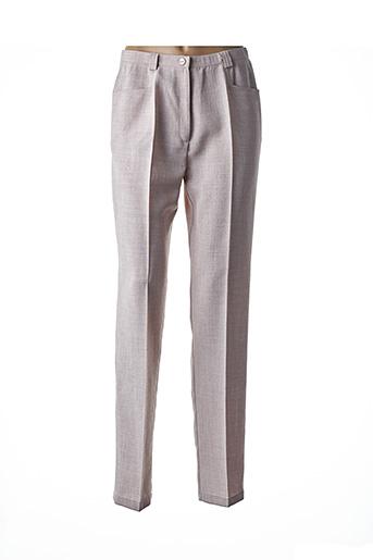 Pantalon chic gris FRANCOISE DE FRANCE pour femme