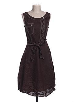 Robe mi-longue marron FRANSTYLE pour femme