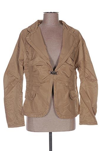 Veste chic / Blazer beige FRANSTYLE pour femme