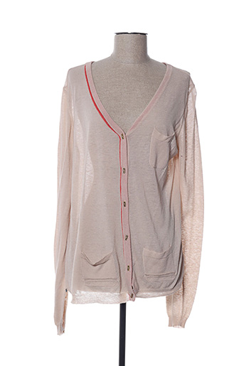 Gilet manches longues beige BY TI MO pour femme
