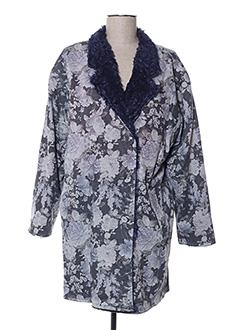 Manteau long bleu ZOE LA FEE pour femme