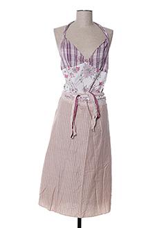 Robe mi-longue violet ZOE LA FEE pour femme