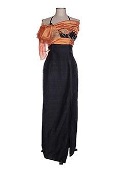 Robe longue noir CLAIRMODEL pour femme