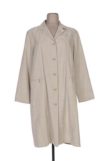 Manteau long vert ARIELLE pour femme