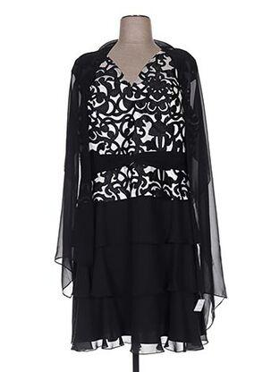 Robe mi-longue noir CREATIF PARIS pour femme