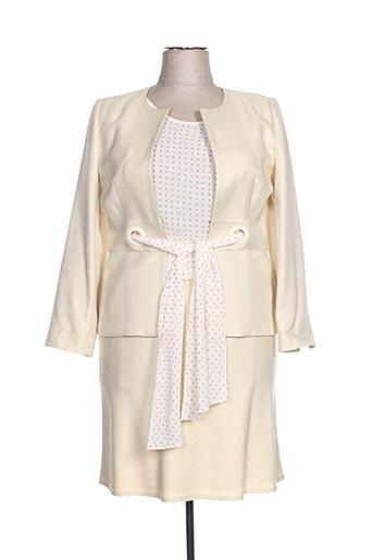 Veste/jupe beige ALOUETTE pour femme