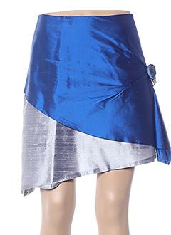 Jupe courte bleu CLAIRMODEL pour femme