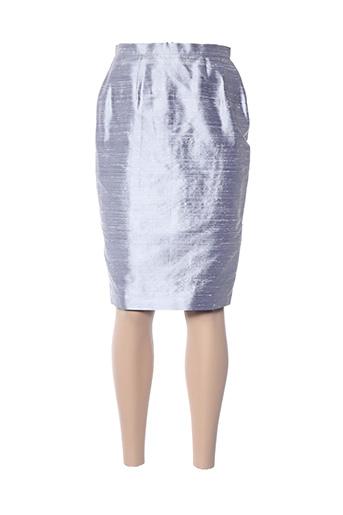 Jupe mi-longue gris CLAIRMODEL pour femme