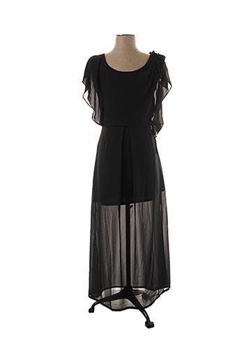 Robe mi-longue noir A.C.B BY J.E CREATION pour femme