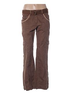 Pantalon casual marron ETAM pour femme