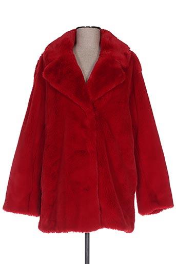 Manteau long rouge BEAUMONT pour femme