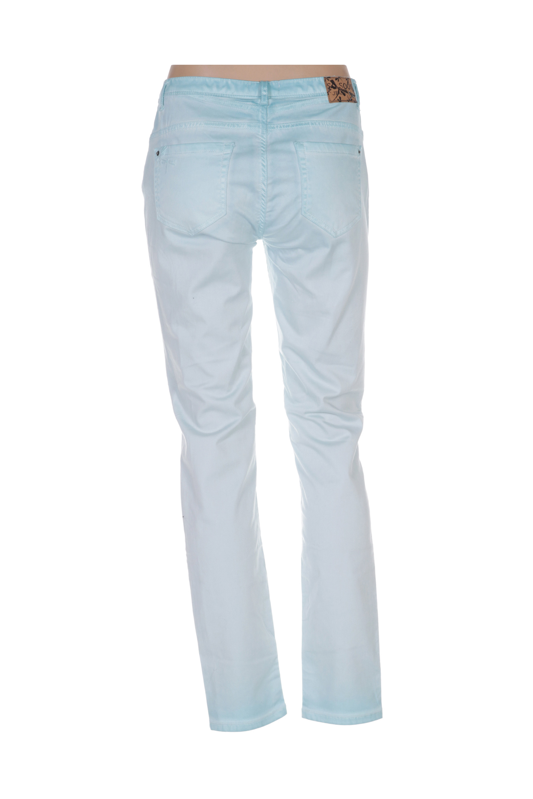 So Soon Pantalons Decontractes Femme De Couleur Bleu En Soldes Pas Cher 1425168-bleu00