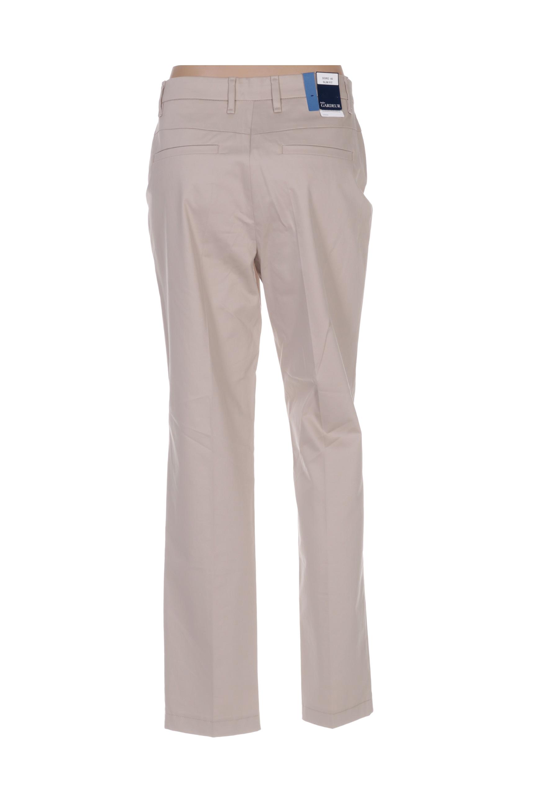 Gardeur Pantalons Decontractes Femme De Couleur Beige En Soldes Pas Cher 1425195-beige0