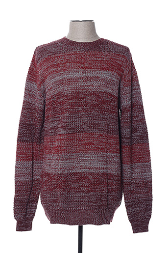Pull col rond rouge GSUS pour homme