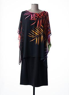 Robe mi-longue noir FUEGOLITA pour femme