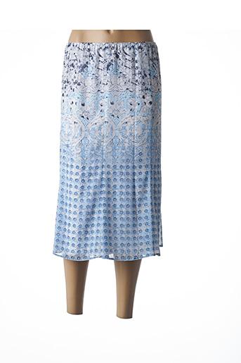 Jupe mi-longue bleu SOMMERMANN pour femme