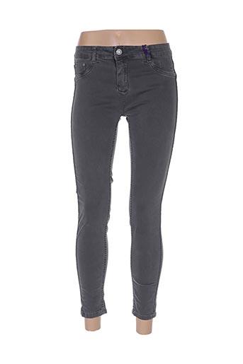 Pantalon 7/8 gris CARLA GIANNINI pour femme