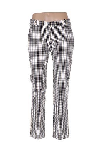 Pantalon 7/8 jaune BOJUA' pour femme