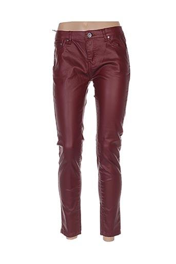 Pantalon casual rouge HAND WORK pour femme