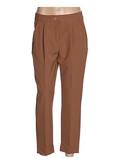 Pantalon 7/8 marron POUSSIERE D'ETOLE pour femme