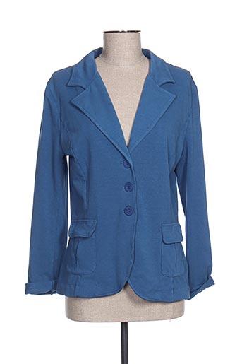 Veste chic / Blazer bleu POUSSIERE D'ETOLE pour femme