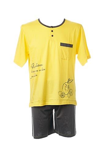 Pyjashort jaune ROSE POMME pour homme