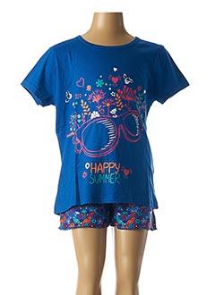 Pyjashort bleu ROSE POMME pour fille