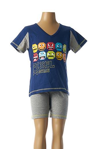 Pyjashort bleu ROSE POMME pour garçon