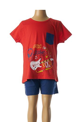 Pyjashort rouge ROSE POMME pour garçon